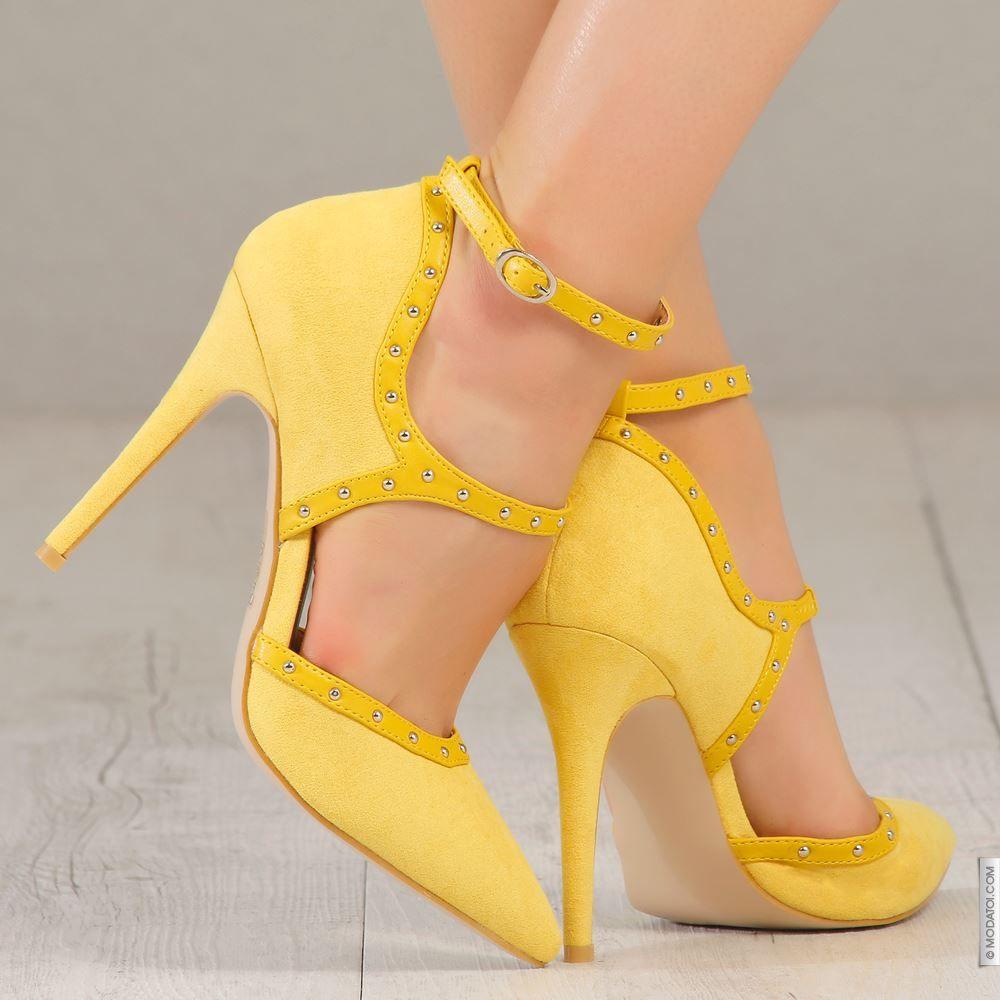 Escarpins jaune taille 39, achat en ligne Escarpins femme sur MODATOI 7ccd85f28f22