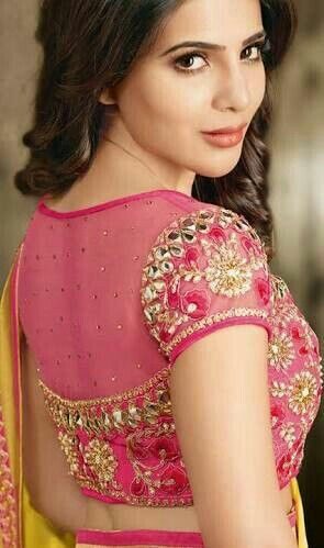 pretty sheer back neck blouse designs transparent for sarees bling sparkle also match your saree with his beautiful orange boat rh pinterest