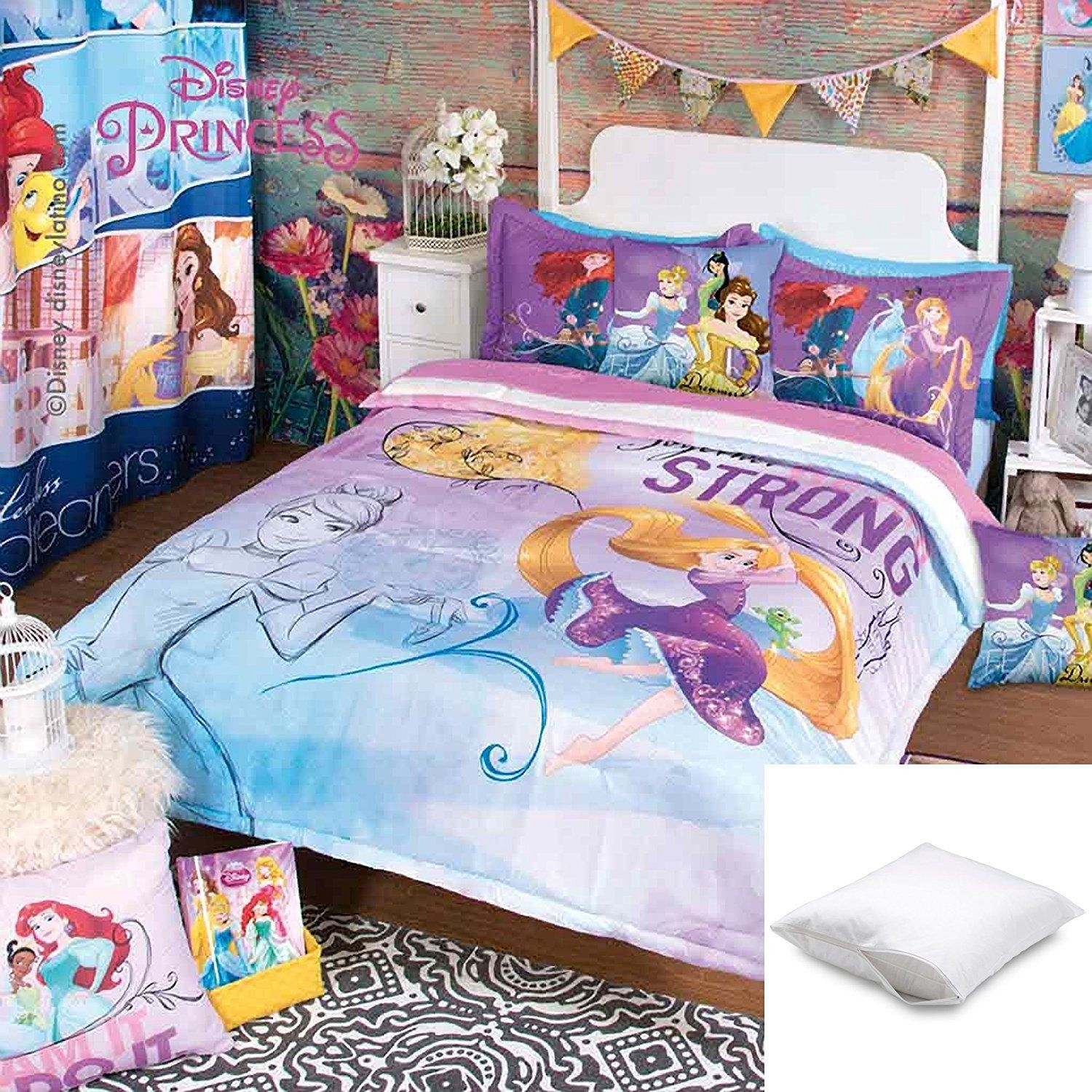two twin bundled pillow disney fleece comforter set flores pc pin protectors marie with queen