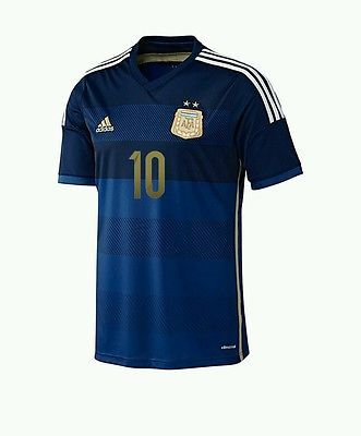 14   15 - ADIDAS   ARGENTINA AWAY SHIRT SS   MESSI 10   SIZE . Argentina  2014 World Cup Kits Released - Footy Headlines Argentina Football ... 7d2f938fe