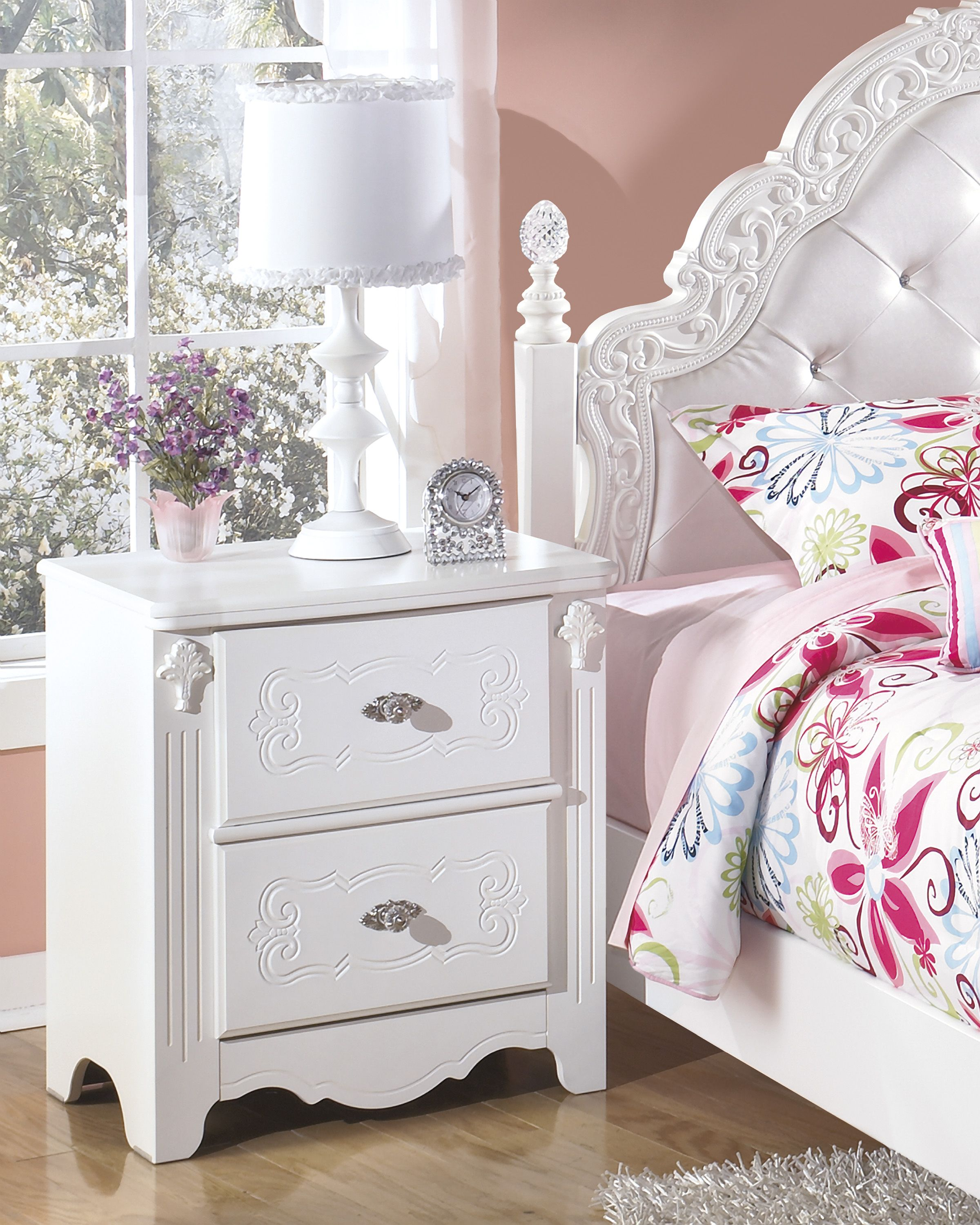 Exquisite Nightstand White furniture living room, White