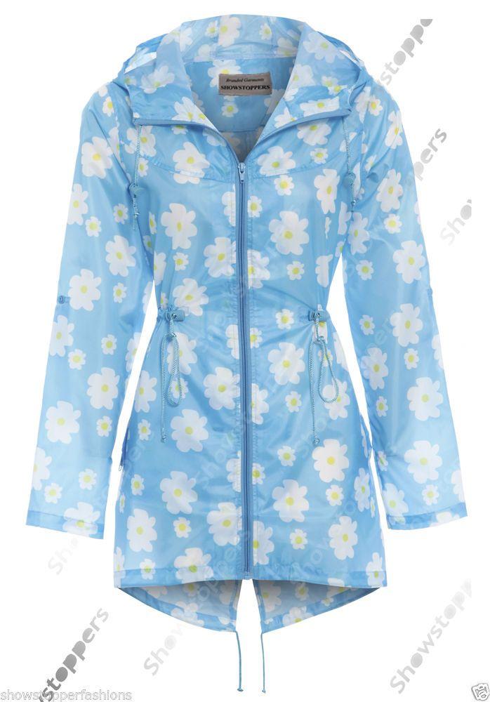 a1624d1bf09 Size 12 14 16 18 20 22 24. NEW RAIN MAC Ladies Shower proof Women s RAINCOAT.  Hooded Raincoat. Women s Size Guide. Length 31
