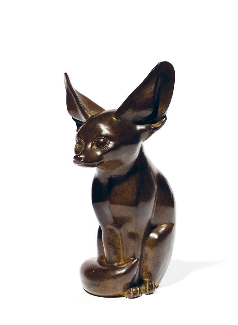 """Armand Petersen (1891-1969) - Le fennec - Epreuve en bronze à patine verte[...], mis en vente lors de la vente """"Art Impressionniste et Moderne"""" à Tajan   Auction.fr"""