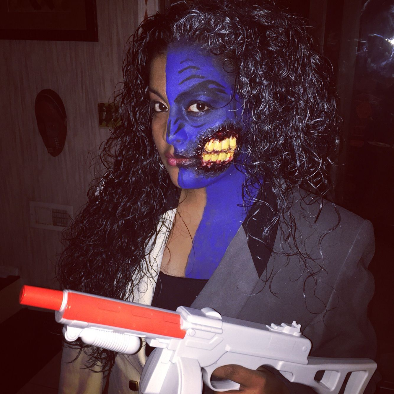 Lady two face Harvey Dent finished product Halloween