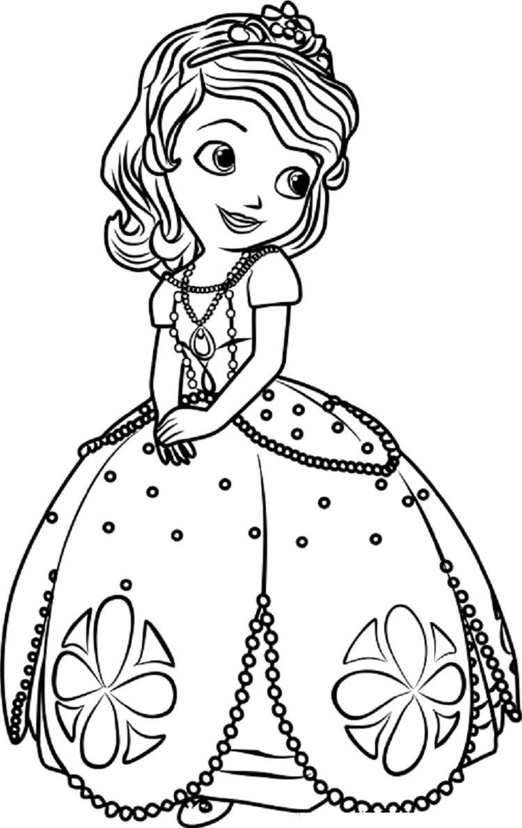 Princess Sofia Coloring Pages Online (With images ...