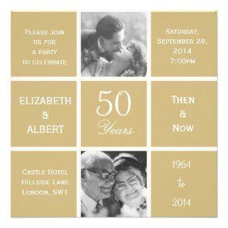 Hedendaags gouden jubileum | Huwelijksverjaardag uitnodigingen BL-27
