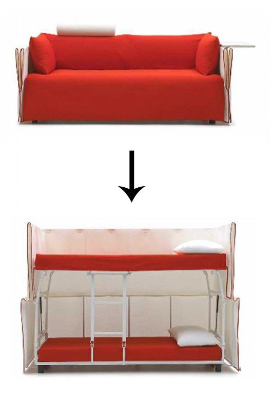 Small Space Convertible Furniture: Furniture And Accessories. Cool Space Saving Ideas For