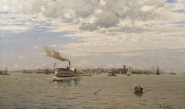 New York Harbor from Bedloe's Island (c. 1890) / by August Gottfried Ludwig Fricke