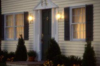 Mounting Security Lights To Siding Installing Light Fixture Vinyl Siding Exterior Wall Light
