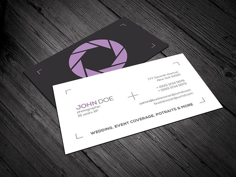 Free Clean Minimal Photography Business Card Template Business - Business cards for photographers templates