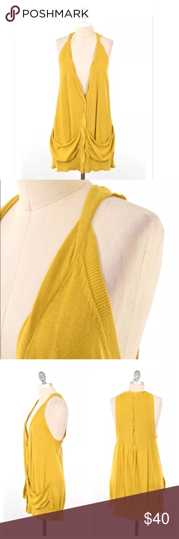 MOTH mustard yellow slouchy grandpa sweater vest | Grandpa sweater ...