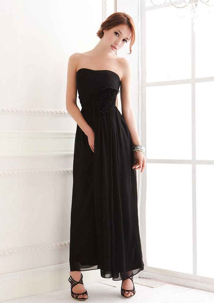 black chiffon bridesmaid dresses | Top 100 Black bridesmaid ...