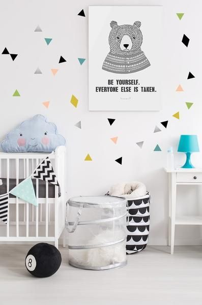 POM Triangle wall transfers in multi-colours | Parker\'s Room | Wall ...