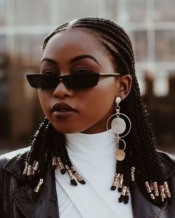 These 16 Short Fulani Braids With Beads Are Giving Us Life In 2019 Supermelanin Natural Hair And Skin Care African Braids Hairstyles Braided Hairstyles African Hairstyles