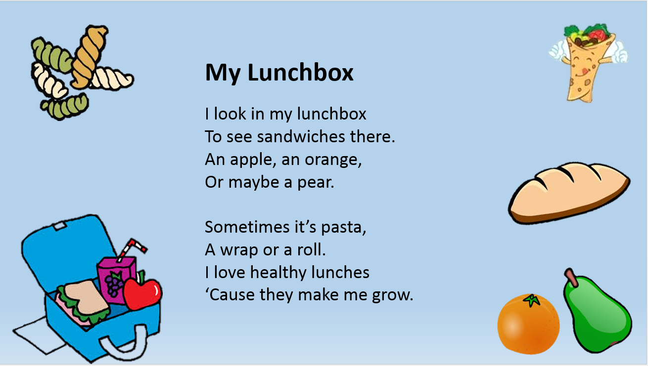 hight resolution of Food 3   Kids poems