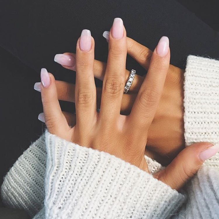 Labella Instagram Pink Ombre NailsFrench Manicure