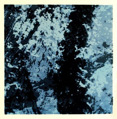"""This screenprint is called """"Dreamscape 3"""", one of a series of 24 prints created in early 2012."""
