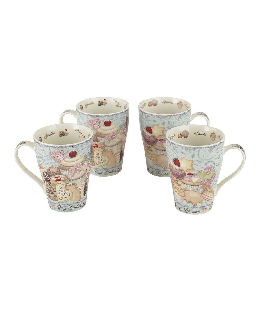 Look at this Cupcakes & Cookies 15-Oz. Mug - Set of Four on #zulily today!