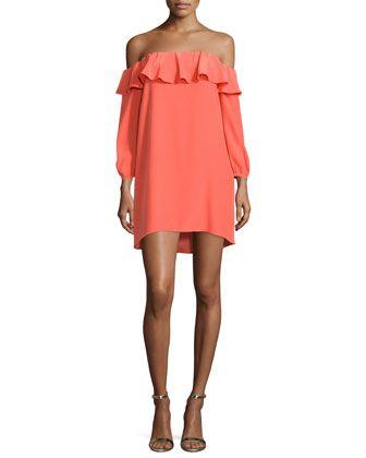Amanda Uprichard Joanna Off-The-Shoulder Mini Dress
