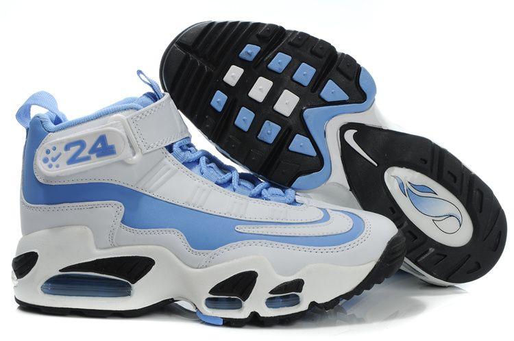 33c746e7273 Nike Womens Griffeys Air Griffey Max 1 White Blue Ken Griffey Shoes ...