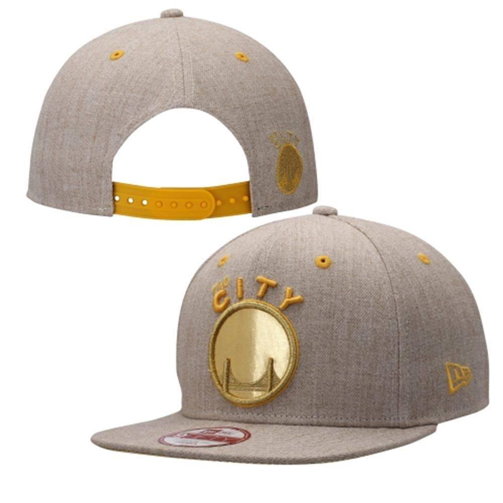 6b504072dcfea Golden State Warriors New Era Logo Glint Original Fit 9FIFTY Adjustable Hat  – Flax