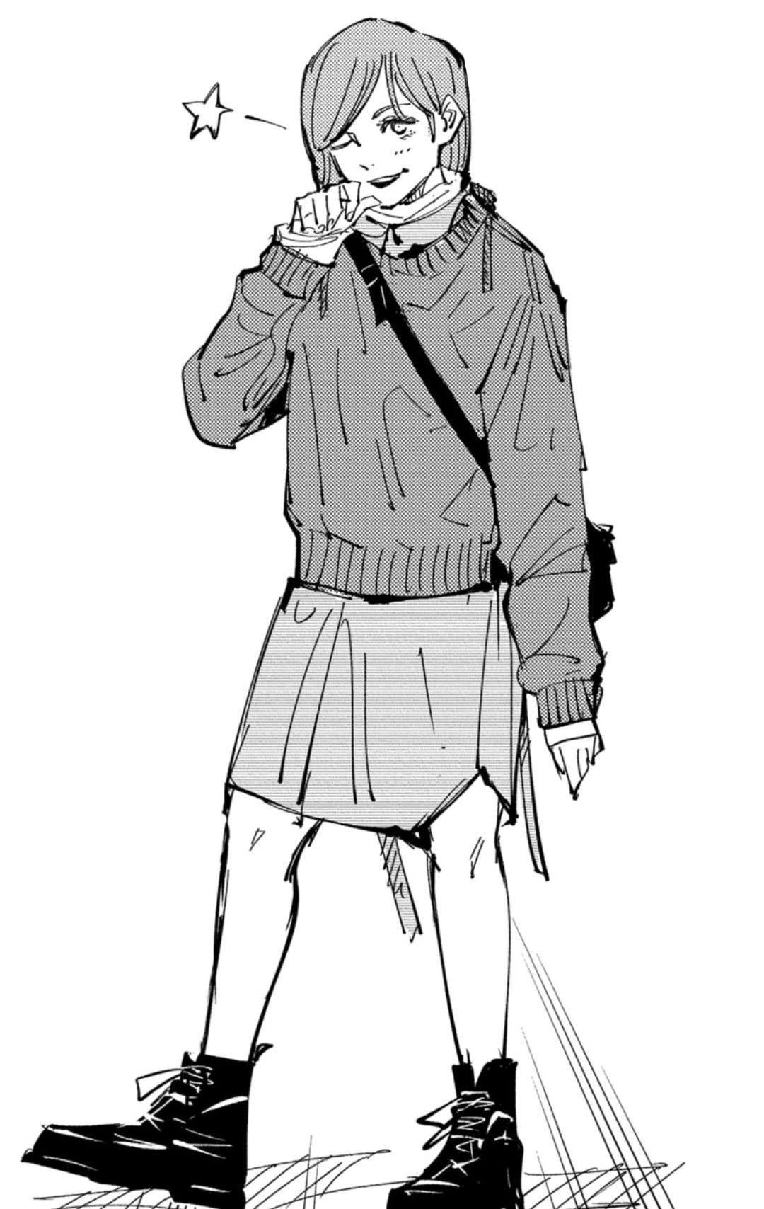 Kugisaki Nobara Jujutsu Black And White Drawing Character Outfits