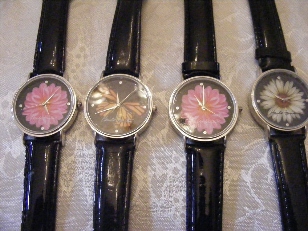 4 Harold Feinstein Ladies' Watches, RARE, Monarch Butterfly, Daisy, Flowers #HaroldFeinstein #Watch