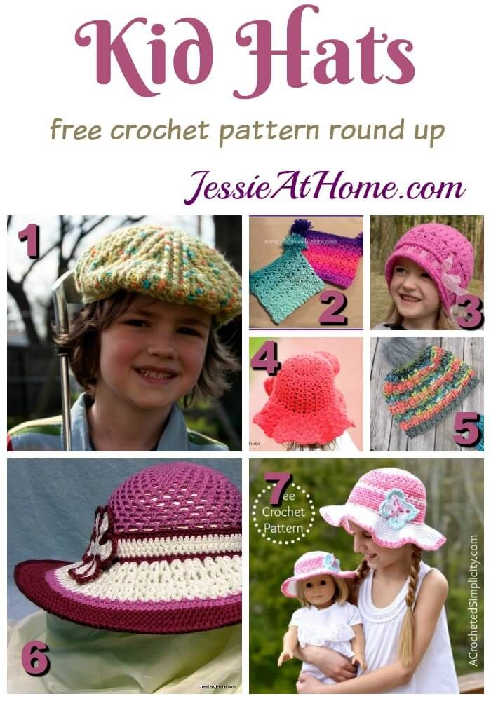 Kid Hats Free Crochet Jessie And Crochet