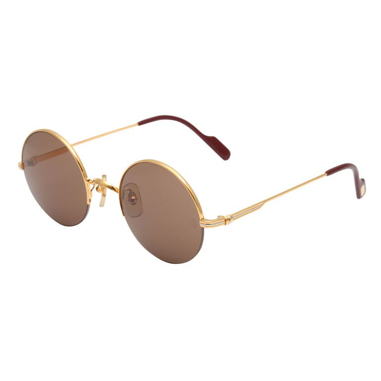 cbc1f043da i need. CARTIER HALF RIM ROUND SUNGLASSES