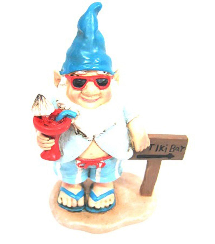 Gnome Garden: Fairy Garden Resin Gnome With Drink