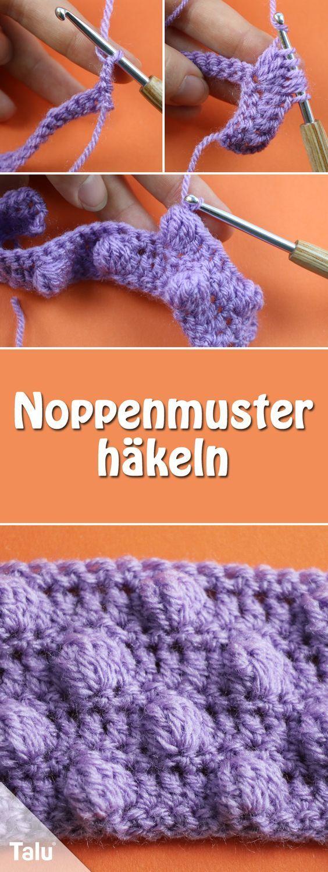 Noppenmuster Häkeln Anleitung Für Popcorn Maschen Häkeln