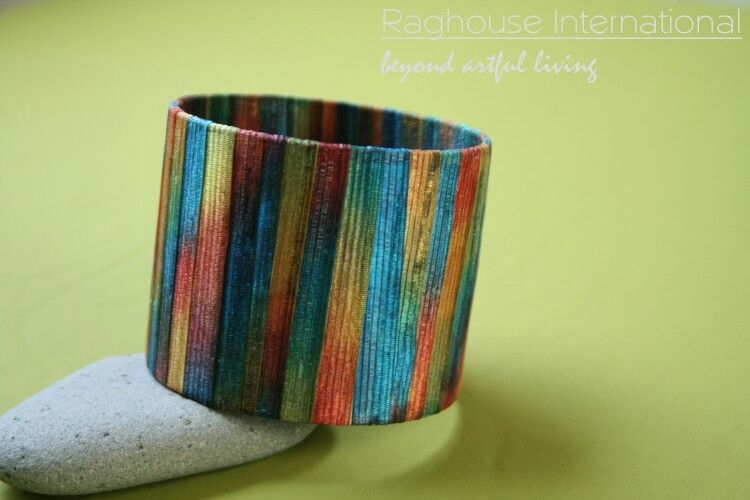 From the archives. Our post popular accessory, the upcycled bangle. The black, white, and gray scale bangle is on sale at www.raghouseinternationalknitwear.bigcartel.com