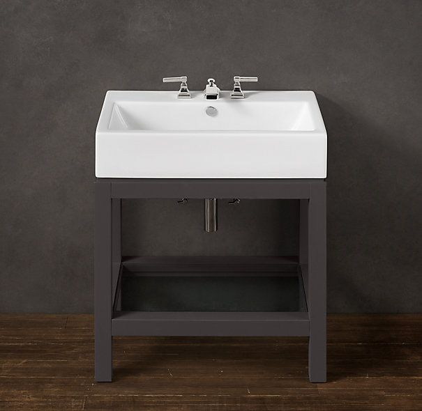 Hutton Single Console Sink  Restoration Hardware 19 Restoration Hardware Sink E18