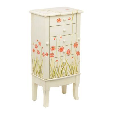White Wildflower Jewelry Chest | Kirklands