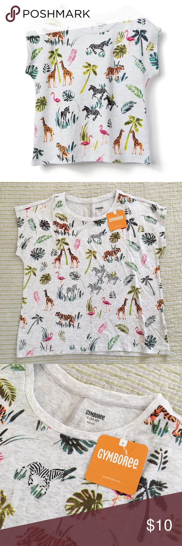 9905de521f6d Gymboree Safari Sketch Short Sleeve Tee Size 10-12 New with tags I ACCEPT  OFFERS