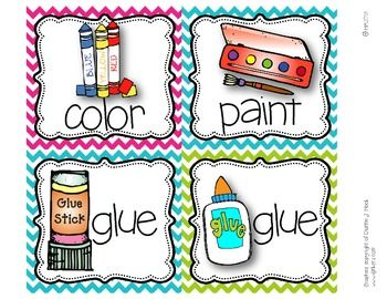 Picture Direction Icons {bright polka dots  chevron print}