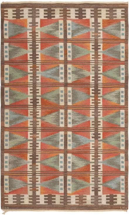 Vintage Swedish Rug 45787 Scandinavian Rug Swedish Rug Carpet Handmade