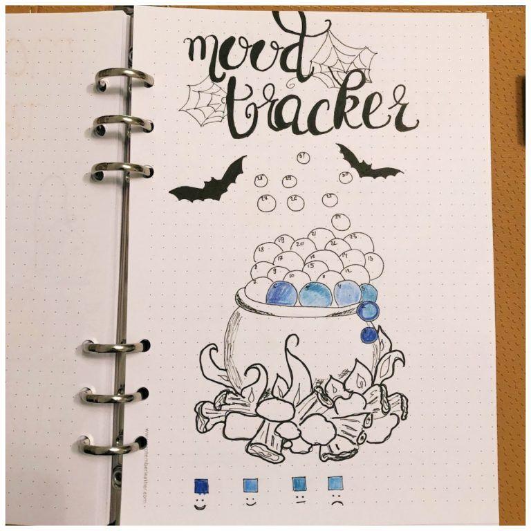 10 Mood Trackers for your Bullet Journal #halloweenbulletjournal