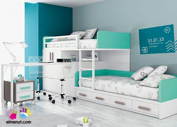 Dormitorio con camas tipo tren armario lugares ideales - Camas tipo tren ...