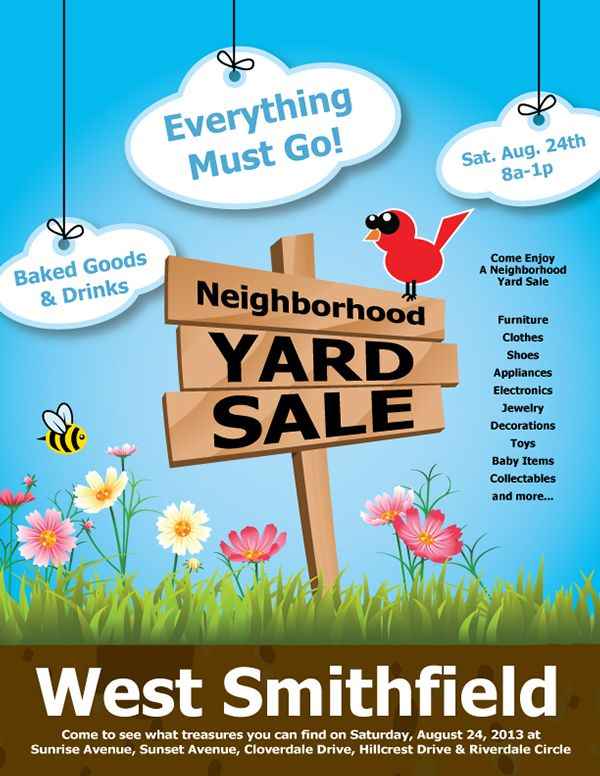 Yard Sale Flyer  Google Search  FlyErs Away    Sale Flyer