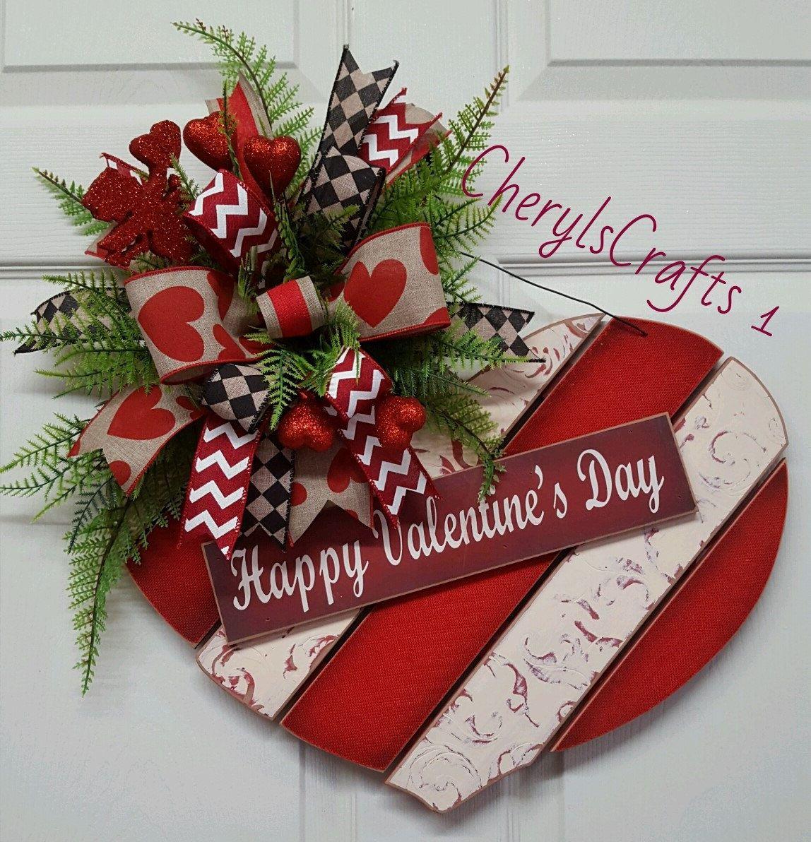 Happy Valentine S Day Door Wall Hanger Valentine S Day Valentine S