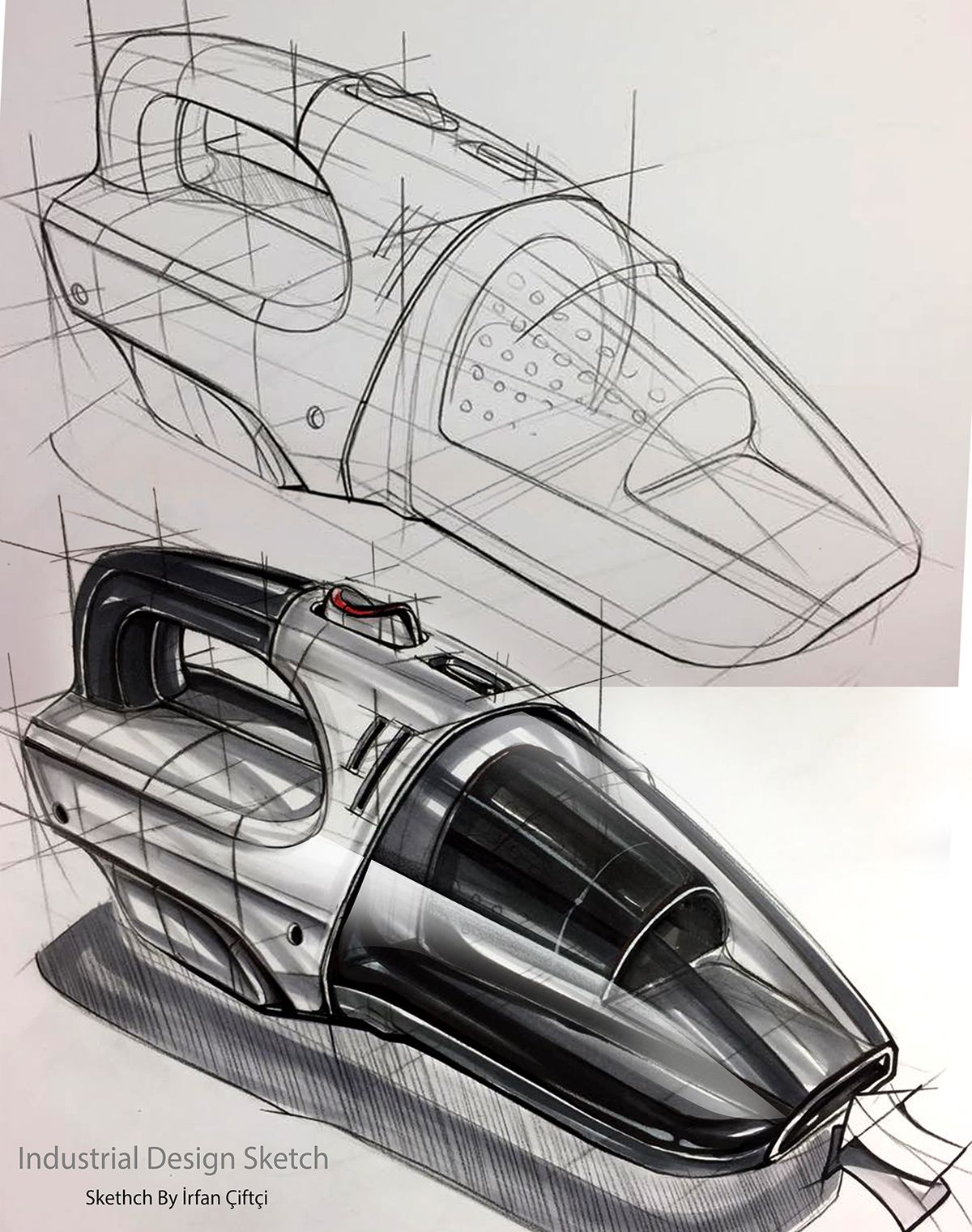 Industrial Design: Industrail Design Sketch & Marker Rendering Tutorial On