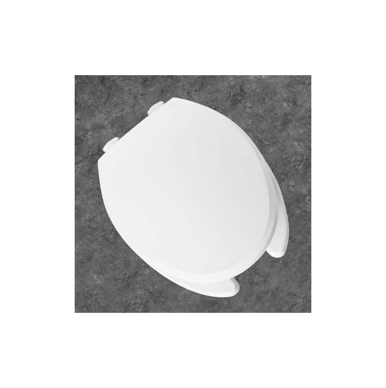Church 390tl Elongated Open Front Plastic Toilet Seat With Cover