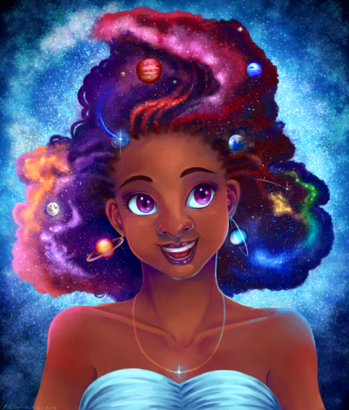 Eatsleepdraw Galaxy Hair By Natalie Nelson Artsy Fartsy In
