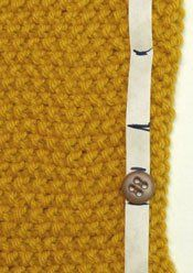 Even Button Placement on Sweaters #sweater #button