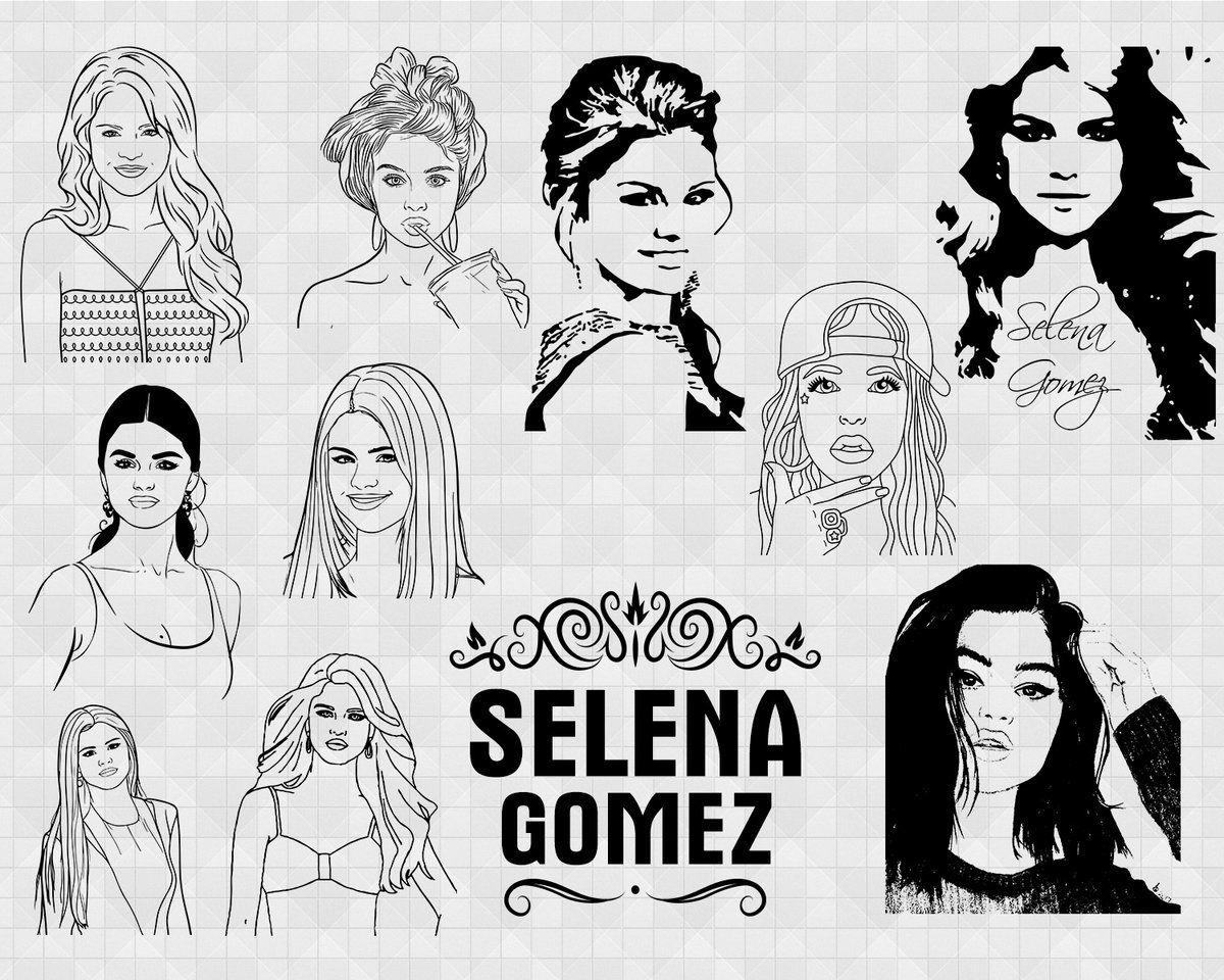Selena Gomez Svg Vector Selena Gomez Selena Gomez Svg Singer Svg Silhouette Selena Gomez Svg Selena Gomez Cricut Actress Svg Selena Gomez Dxf Selena Selena Gomez Svg