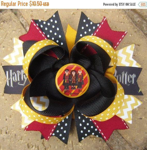 Handmade hair bows-Harry Potter 1 A