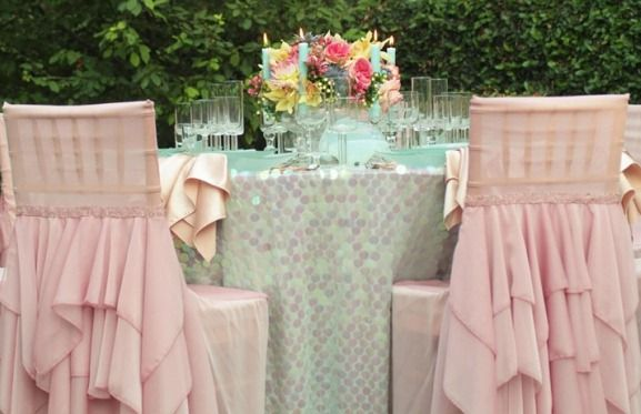 Modern Chic Ruffled Reception Chair Caps and Covers | by Wildflower Linen & Modern Chic Ruffled Reception Chair Caps and Covers | by Wildflower ...