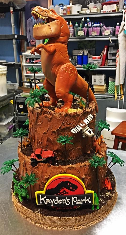 Jurassic Park Birthday Cake Adrienne Co Bakery Little Boy