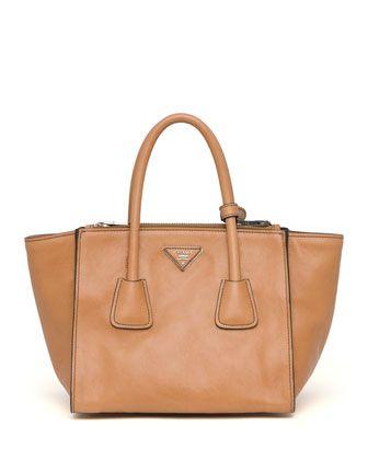 d95e05088ec37f Glace Calf Twin Pocket Tote Bag, Natural (Naturale) by Prada at Neiman  Marcus.